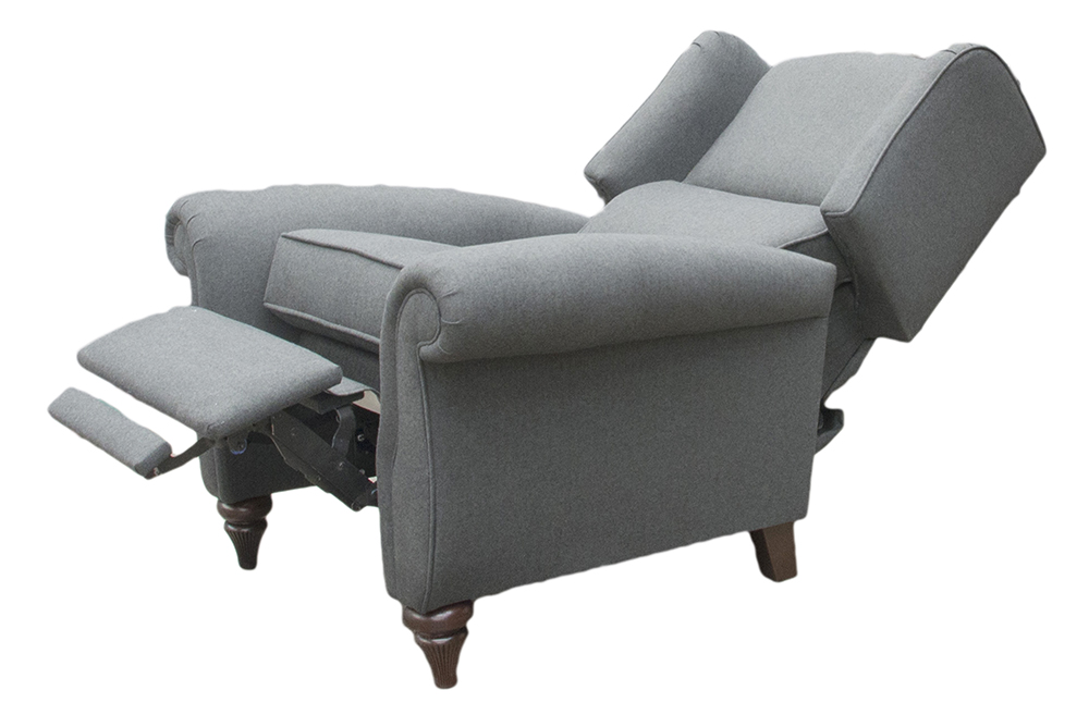 Recliner Greviile Chair  Open- Tweed Charcoal