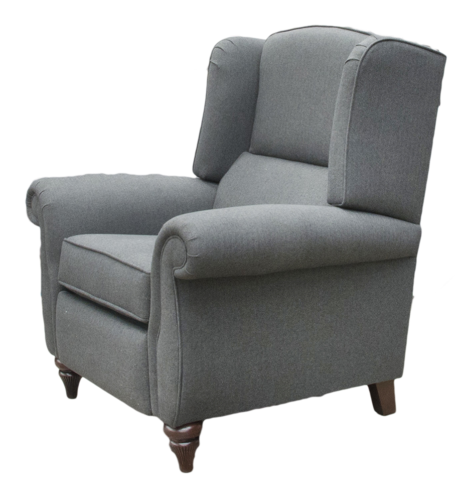 Recliner Greviile Chair Side - Tweed Charcoal