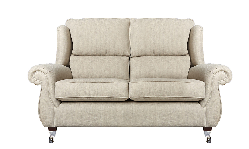 Greville 3 Seater Sofa in Volkan Cinder Plain, Silver Collection Fabric