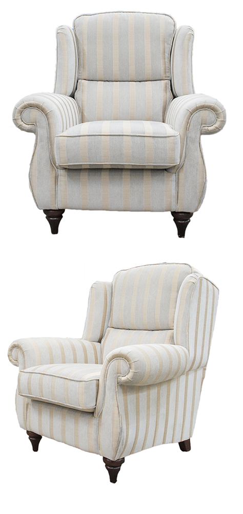 Greville Chair - Burton Stripe Mist