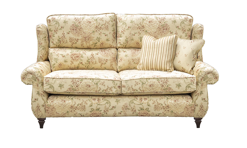 Greville 3 Seater Sofa in Semi Ramis Pattern, Platinum Collection Fabric