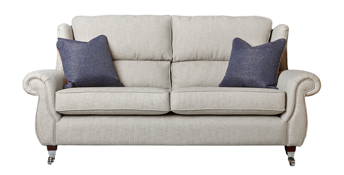 Greville Large Sofa in Varadi Cinder Plain (Discontinued Fabric)