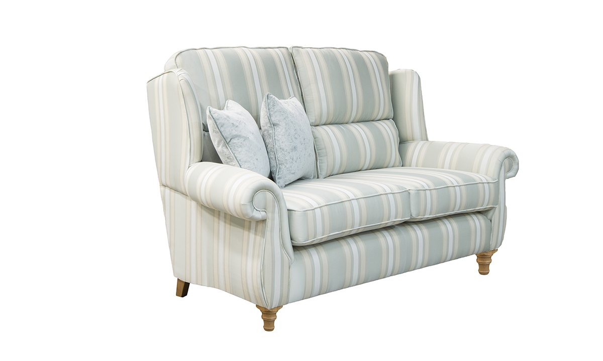 Greville Small Sofa Side in SR 12355 Multi Stripe Duck Egg