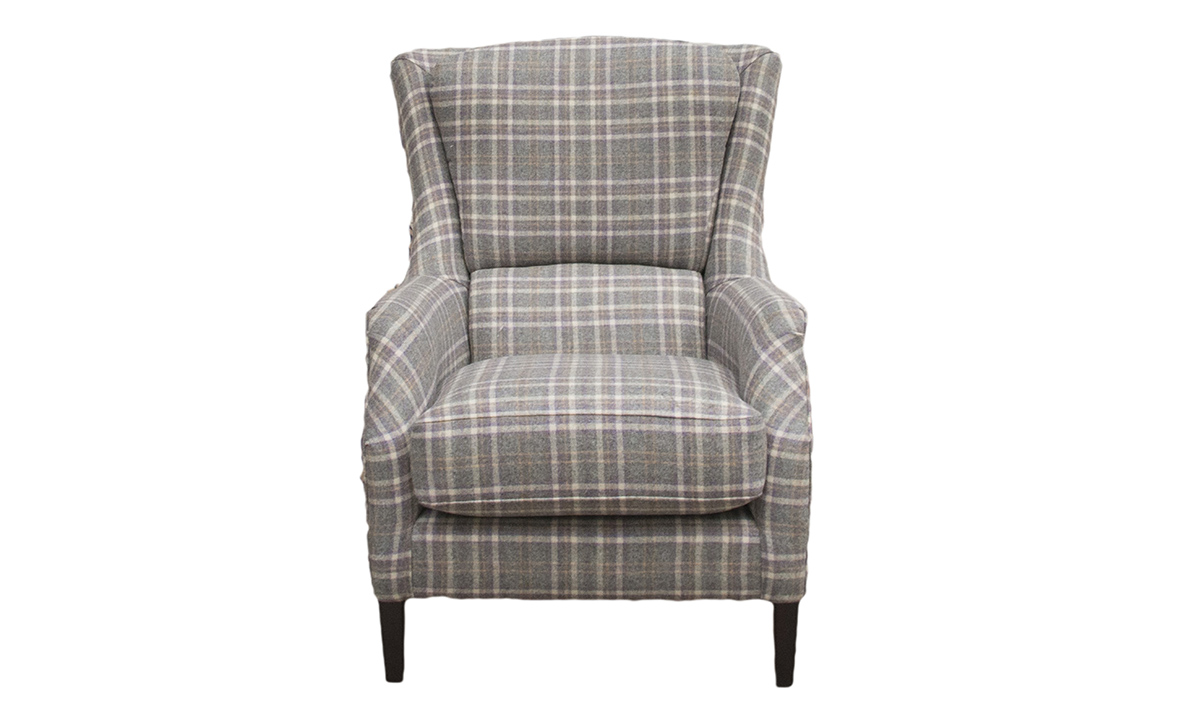Harvard Chair in Harrogate Plaid Heather
