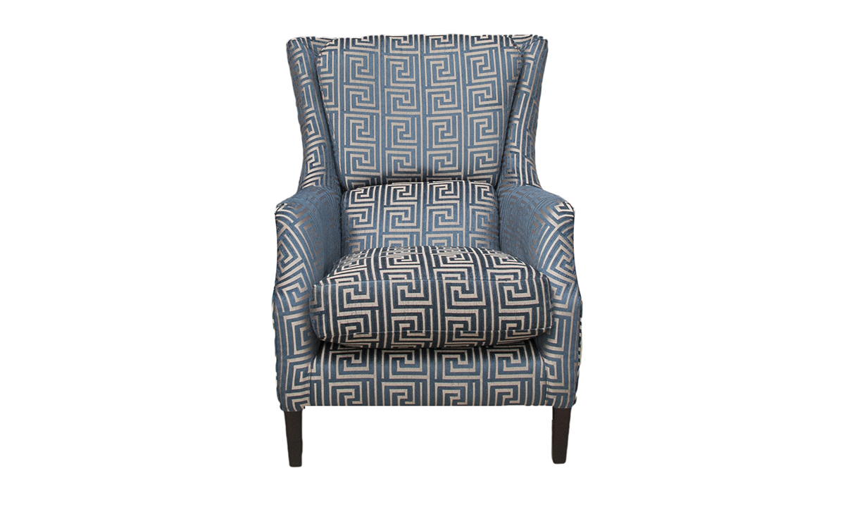 Harvard Chair in Limra Pattern Petrol