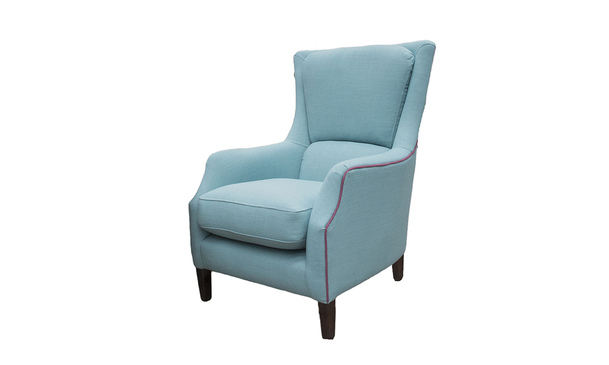 Harvard Chair in Customers Own Fabric, Baker Abingdon Teal