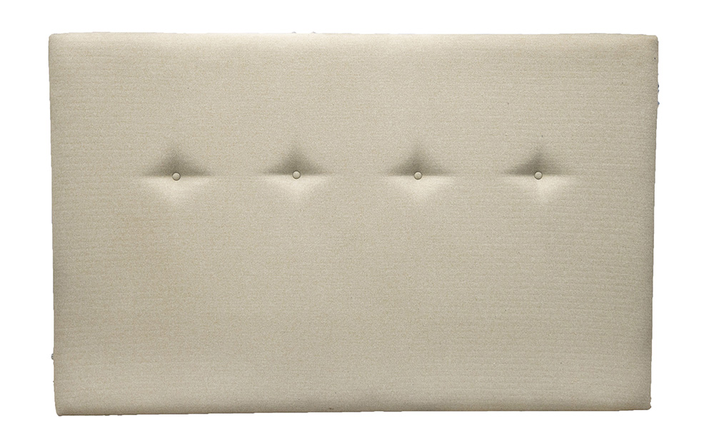 Kinsale 5ft Headboard, with Light Buttons, Tweed Oatmeal, Silver Collection Fabric