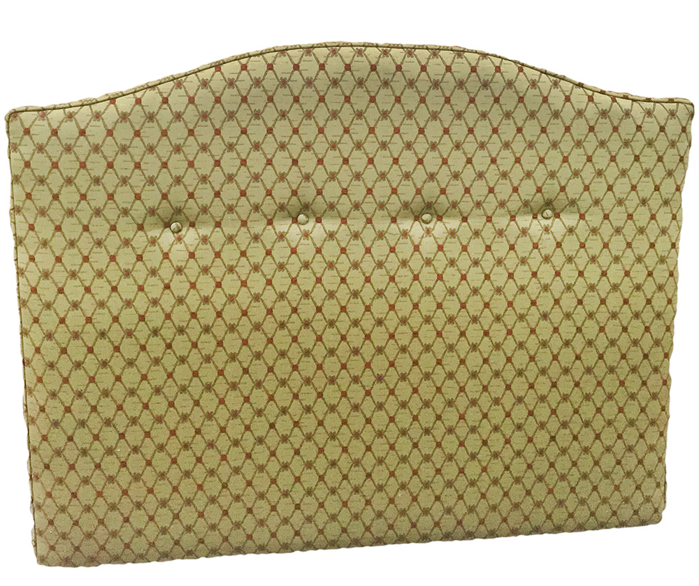 4ft6%22 camel headboard in gold collection fabric
