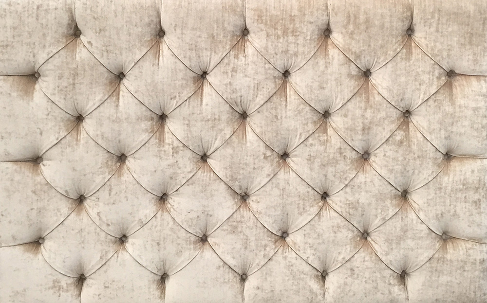 5ft Deep buttoned headboard in Gold Collection velvet