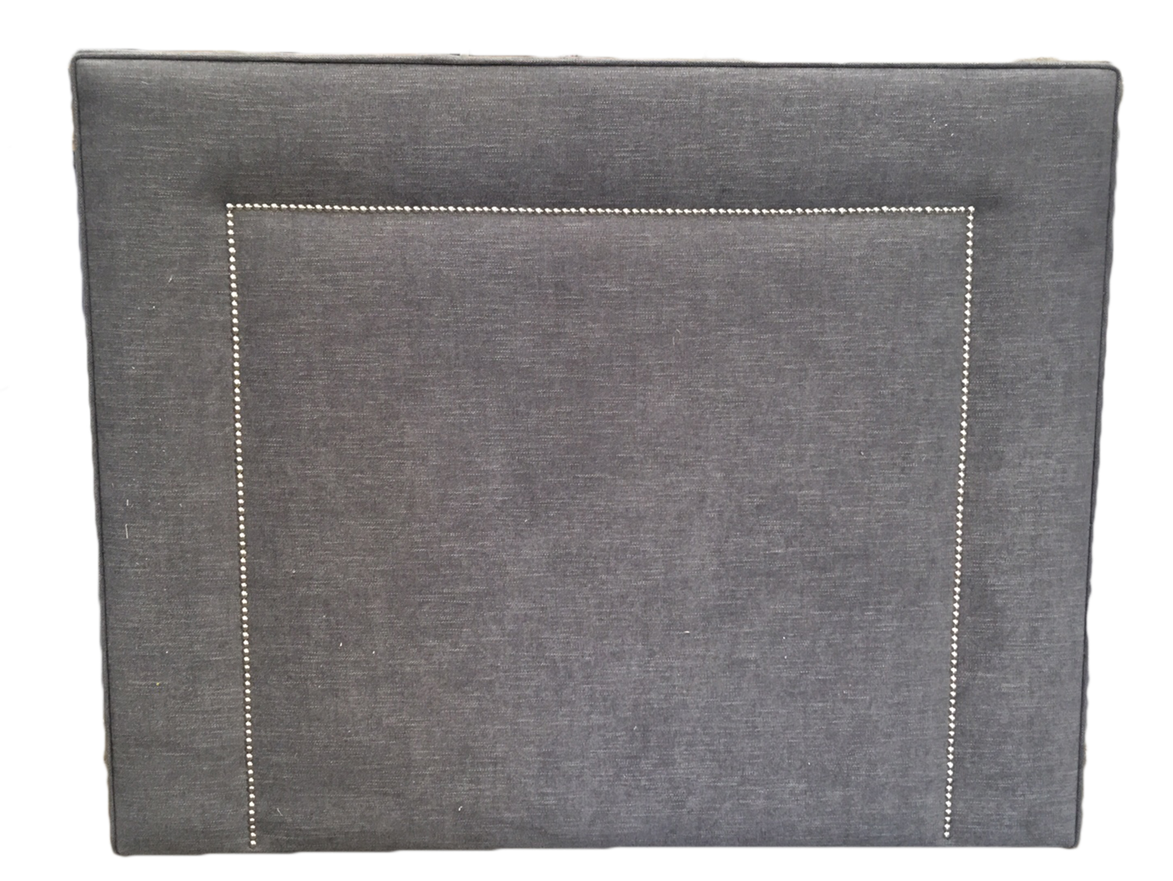 Small Headboard in Plain Grey with Studding