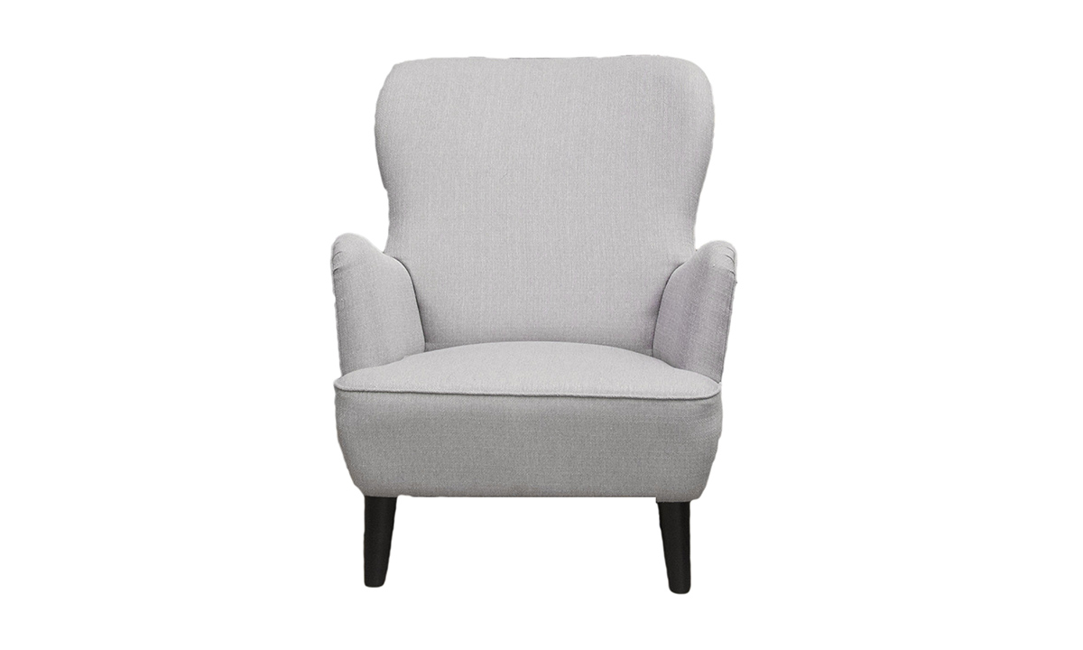 Holly Chair in Aosta Silver, Silver Collection Fabric
