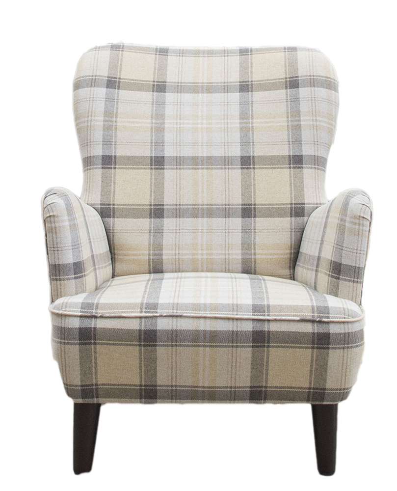 Holly Chair - Aviemore Plaid Chocolate