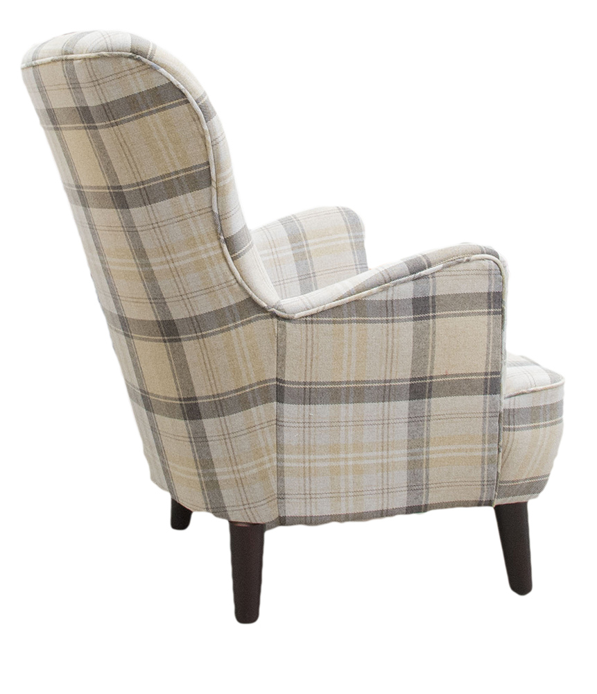 Holly Chair Back - Aviemore Plaid Chocolate