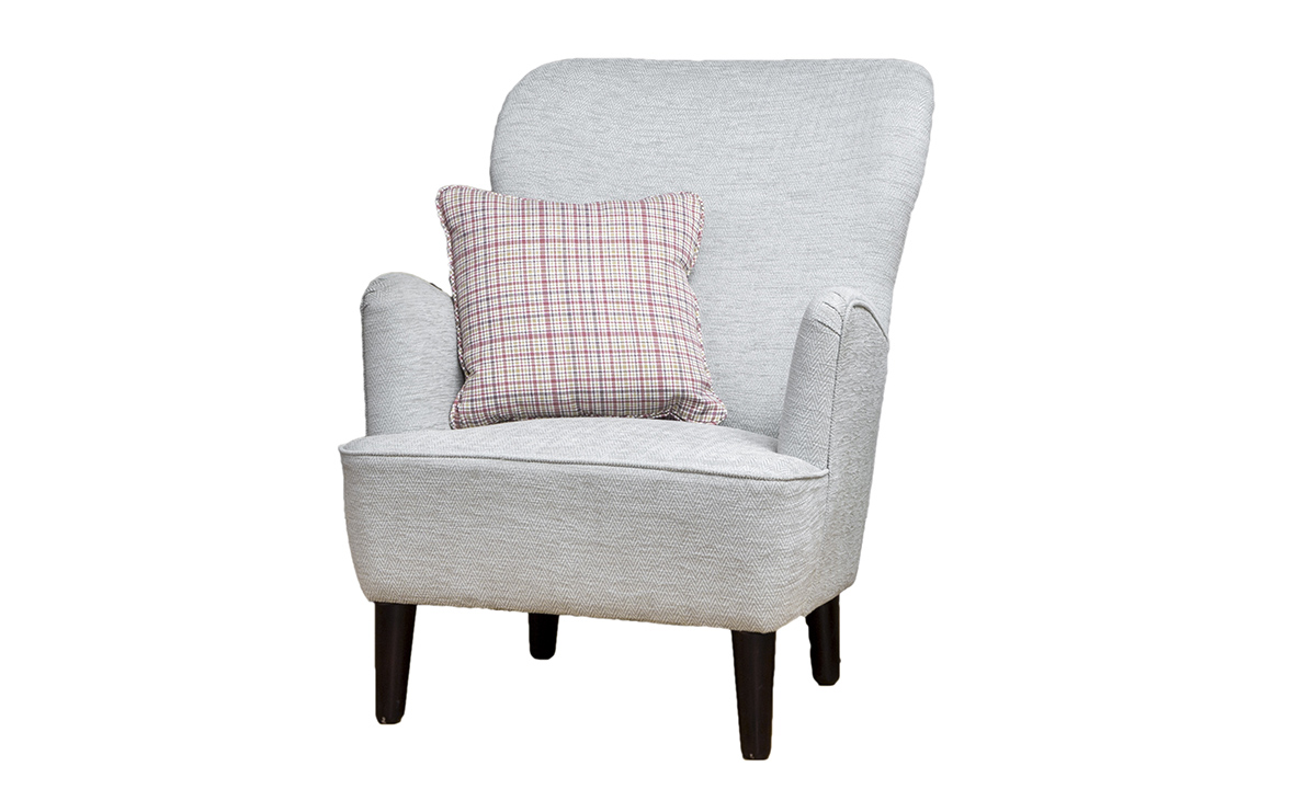 Holly Chair in Lenora Cloud, Silver Collection Fabric