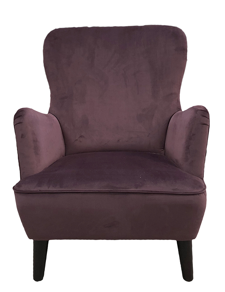Holly Chair - Luxor Aubergine - Silver Collection
