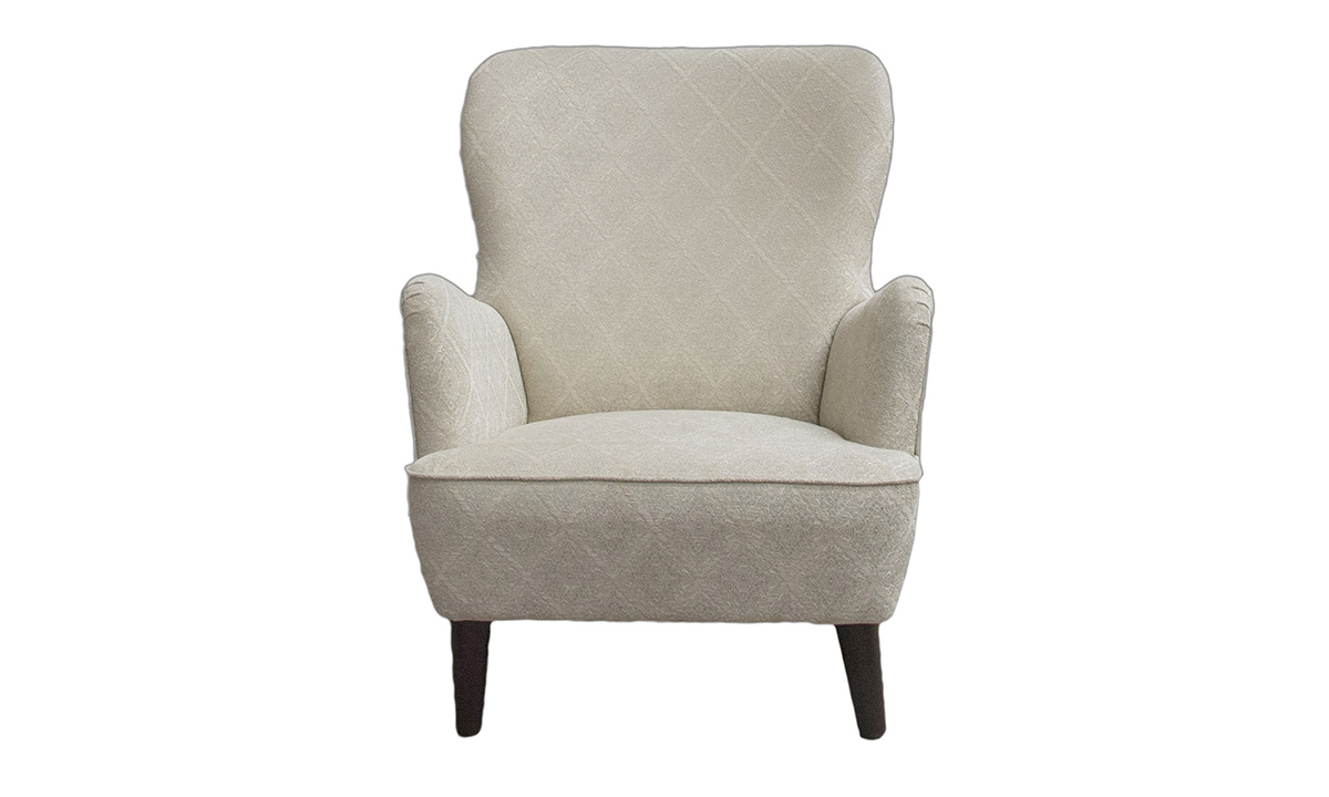 Holly Chair in Nebbiolo Diamond Hession, Platinum Collection Fabric