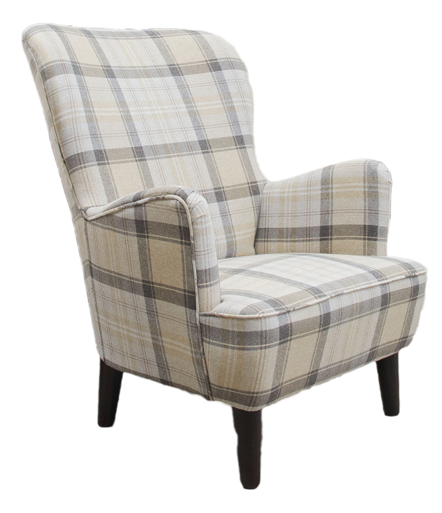 Holly Chair Side - Aviemore Plaid Chocolate