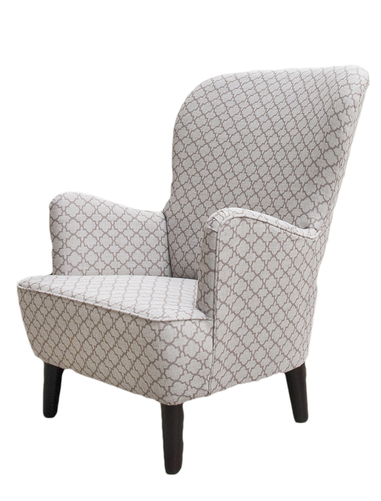 Holly Chair Side -Digital Trellis Taupe