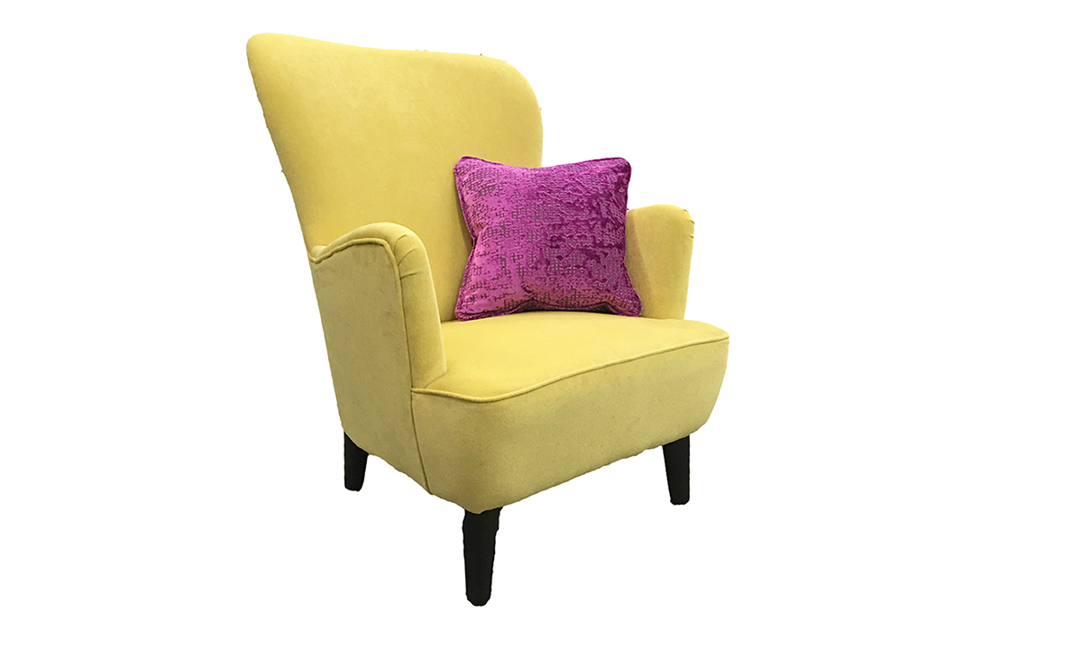 Holly Chair Side - Ross Fabrics Pimlico Lemon - SR16155