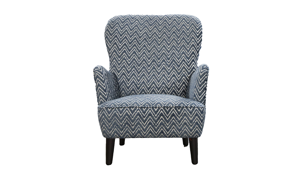 Holly Chair in Piper Navy, Gold Collection Fabric