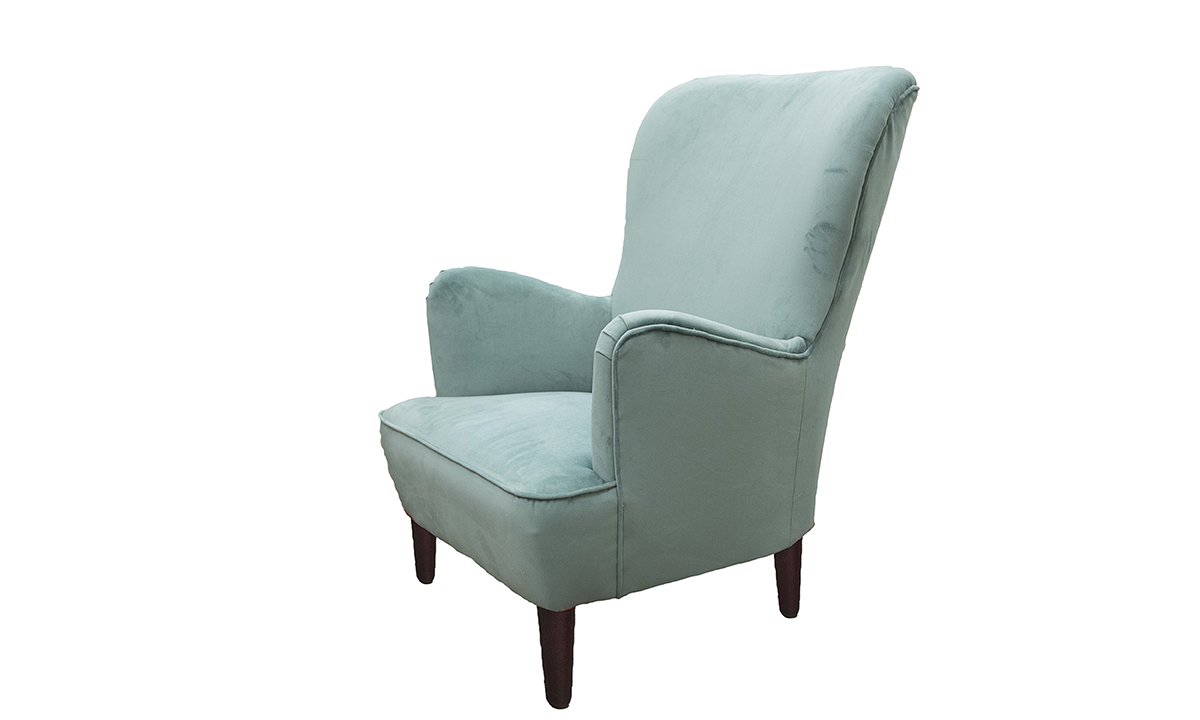 Holly Chair in Warwick Plush Lagoon, Gold Collection of Fabrics