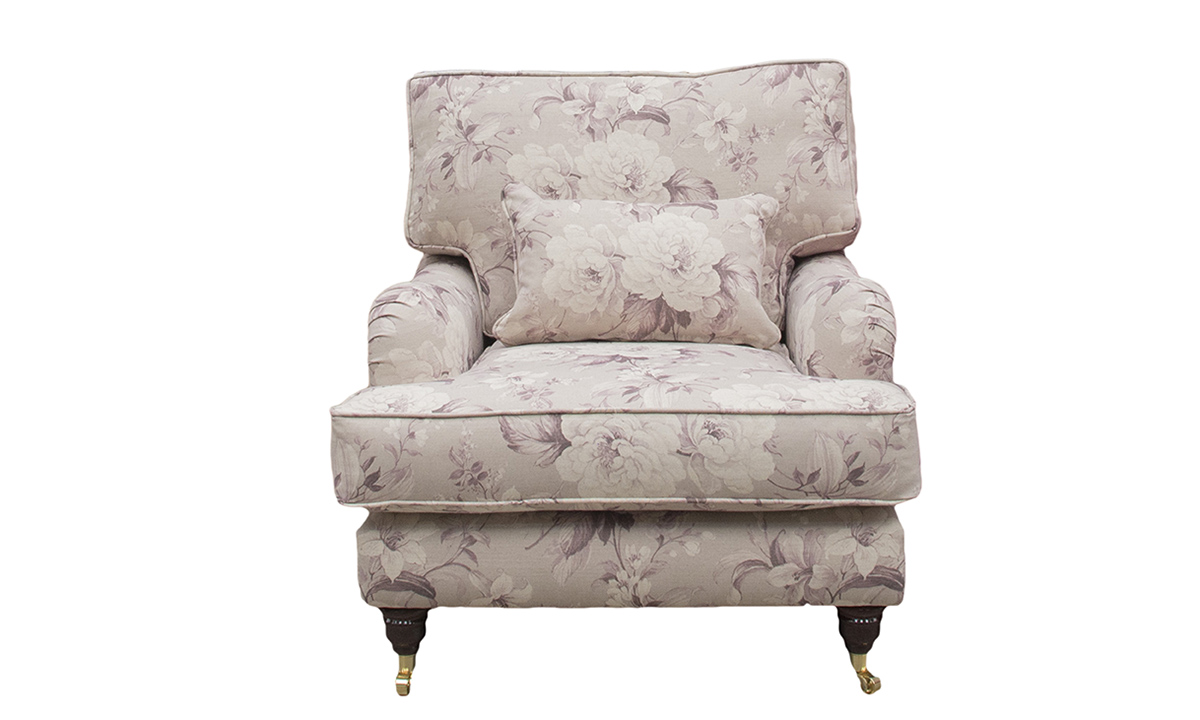 Holmes Chair in Floral New England Damson