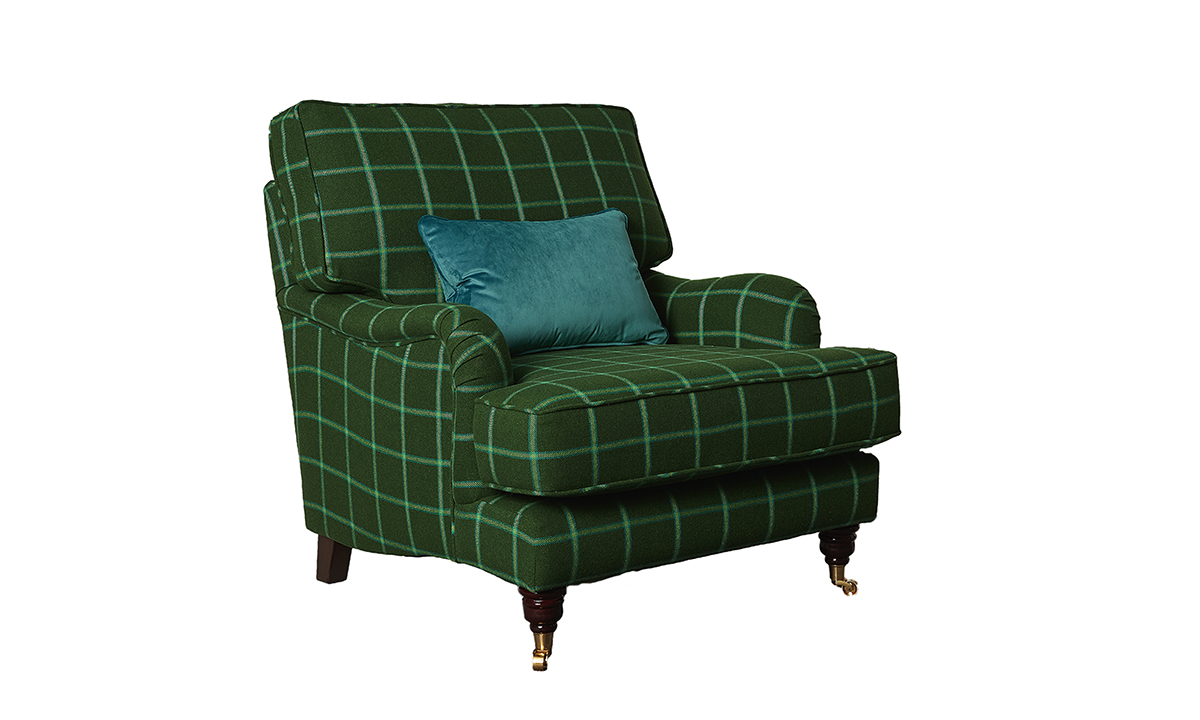 Holmes Chair in Foxford Amazon, Bay Sea Glen Windowparne, Platinum Collection Fabric