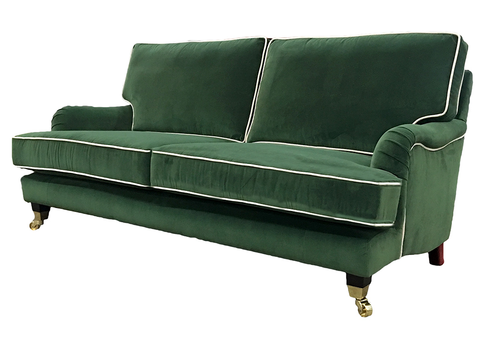 Holmes Large Sofa  in J Brown Monza 14860 Forest Green Platinum Collection