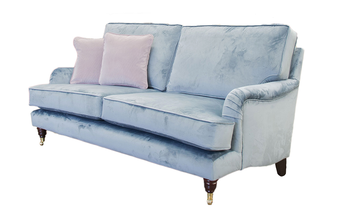 Holmes Large Sofa in Luxor Smoke, Silver Collection Fabric
