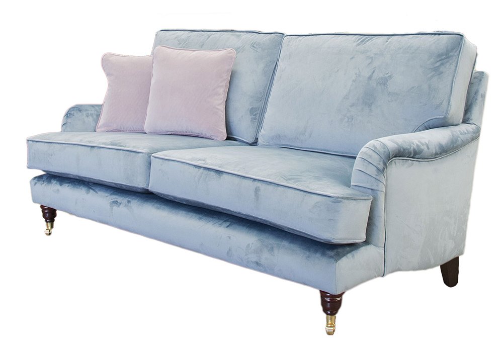 Holmes Large Sofa in  Luxor Smoke Silver Collection Fabric