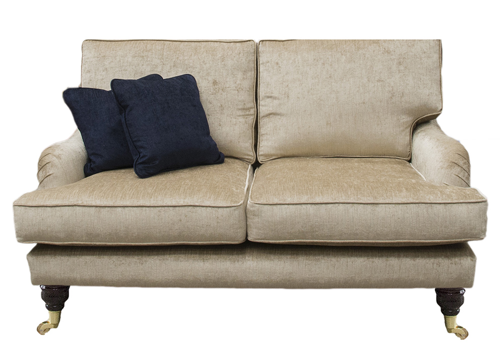 Holmes Small Sofa in  Edinburgh Biscuit Silver Collection Fabric