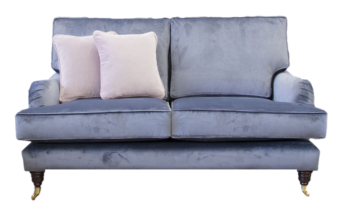 Holmes Small Sofa in Luxor Tempest, Silver Collection Fabric
