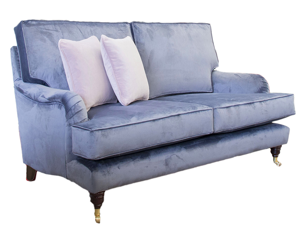 Holmes Small Sofa in Luxor Tempest Silver Collection Fabric