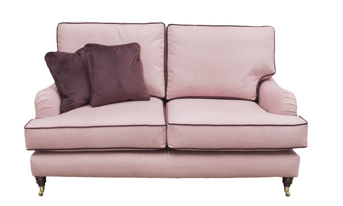 Holmes 2 Seater Sofa in Havana Rose, Silver Collection Fabric