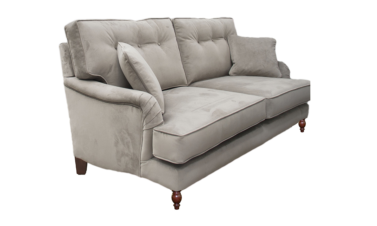 Holmes Sofa with a  Button Back in Warwick Plush Elephant