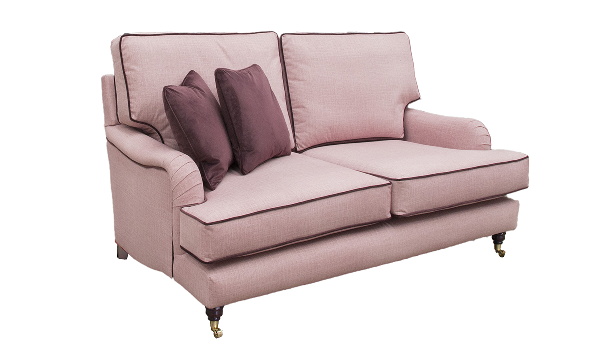 Holmes Small Sofa in Havana Rose, Silver Collection Fabric