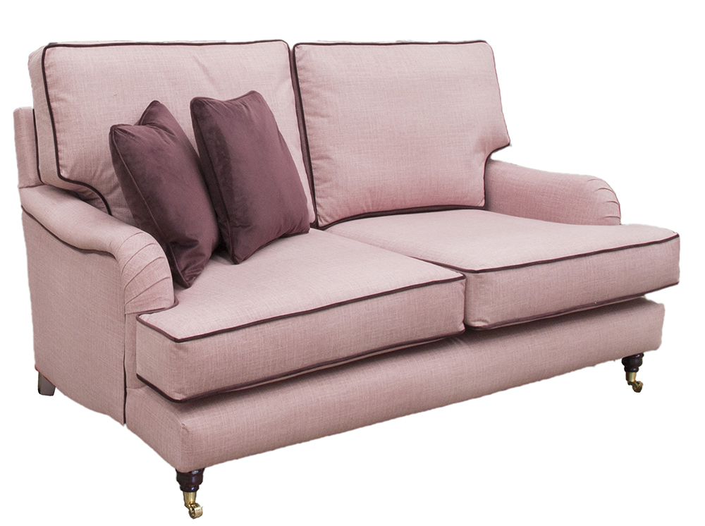 Holmes Sofa in Havana Rose Silver Collection Fabric