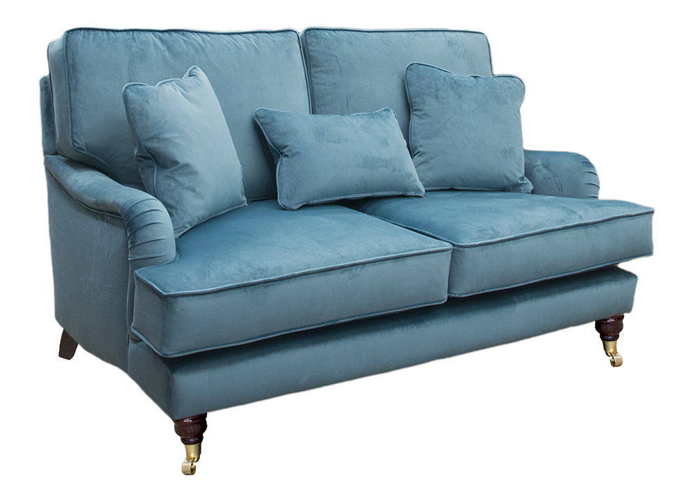 Holmes Small Sofa in  Luxor Turquoise Silver Collection Fabric