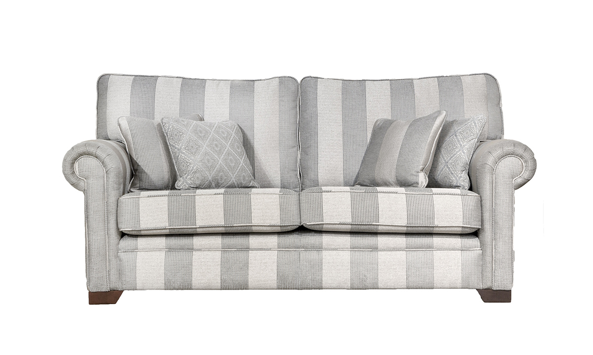 Imperial Large Sofa in Nebbiolo Stripe Powder, Platinum Collection Fabric