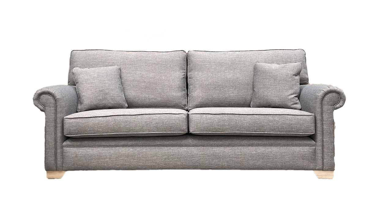 Imperial Large Sofa in Ado Bark, Bronze Collection Fabric