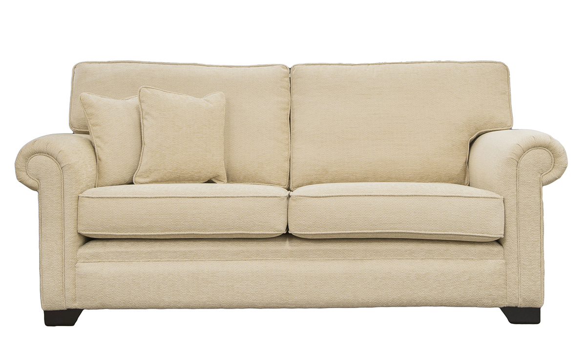 Imperial Large Sofa in Lenora Vanilla, Silver Collection Fabric