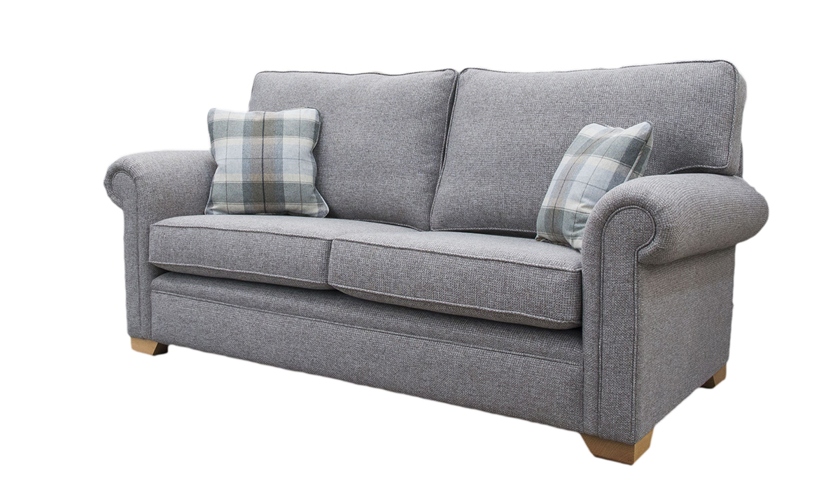 Imperial Sofa Milwaukee Grey, Bronze Collection Fabric