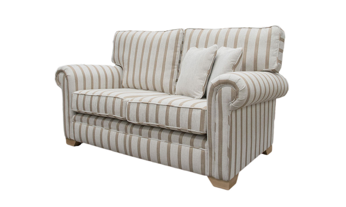 Imperial Sofa in Balamir Stripe Ice, Silver Collection Fabric