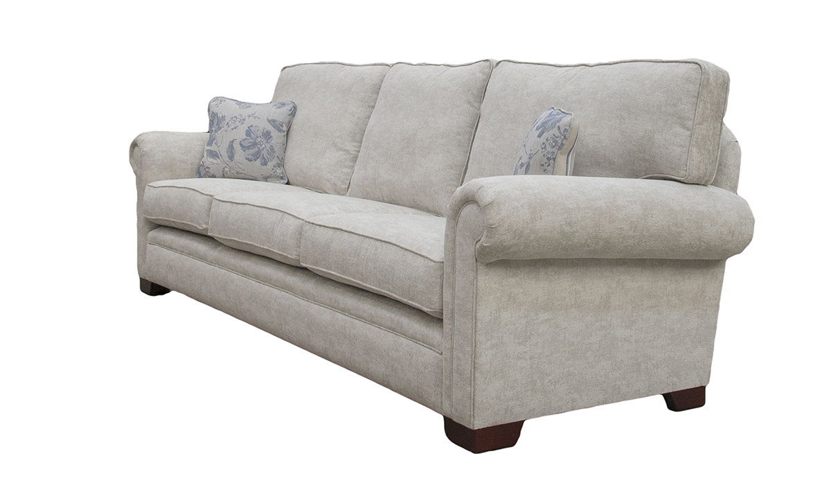 Bespoke Size Imperial Sofa in  Dagano Plain Linen, Bronze Collection Fabric