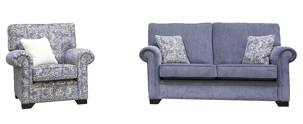 Imperial Small Sofa & Chair - Gold Collection