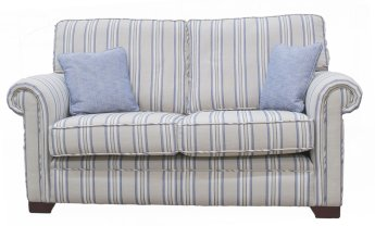 Imperial Small Sofa - Silver Collection - Varadi Stripe Nordic Blue