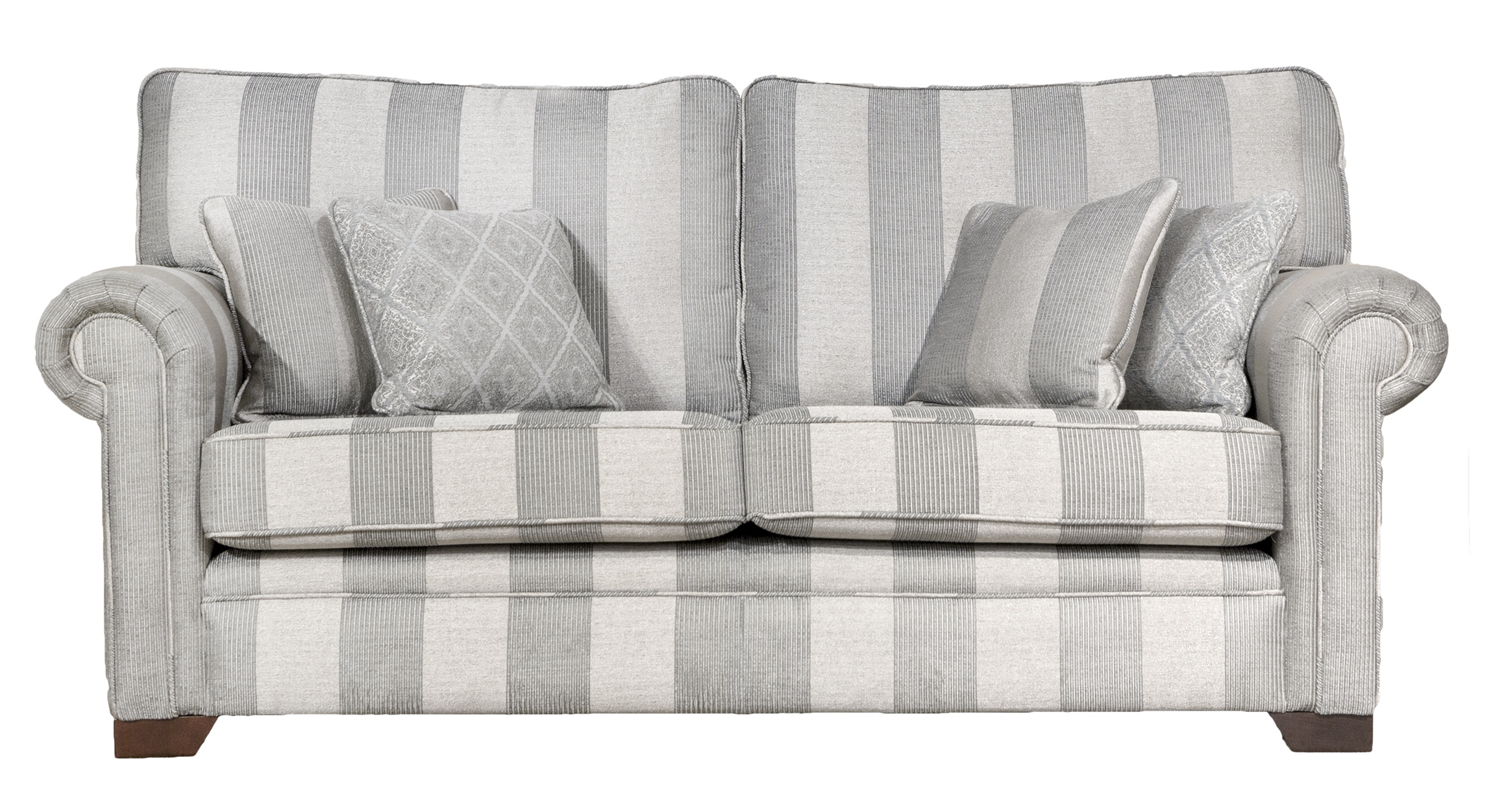 Imperial Large Sofa - Platinum Collection - Nebbiolo Stripe Powder