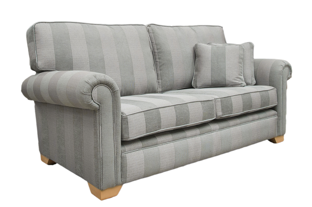 Imperial Sofa Side - Nebbiolo Stripe Powder