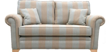 Imperial Small Sofa - Silver Collection - Socrates Pigeon Stripe