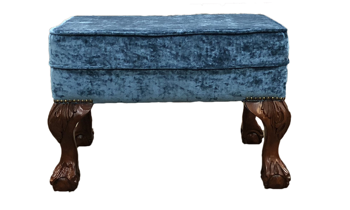 King Footstool in Modena Cyan 14394